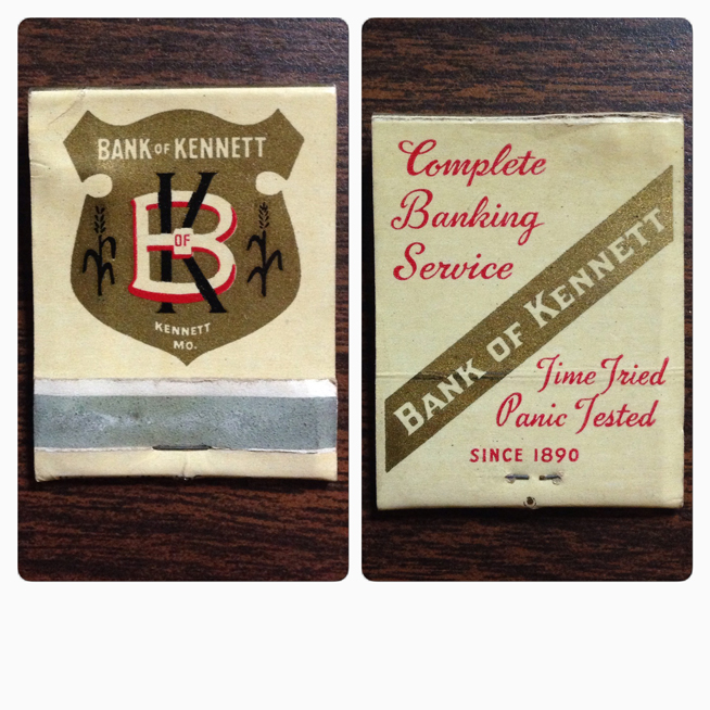 Bank of Kennet Matchbook Cover