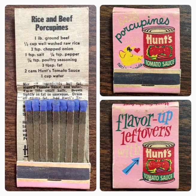 Flavor Up Leftovers Matchbook Cover