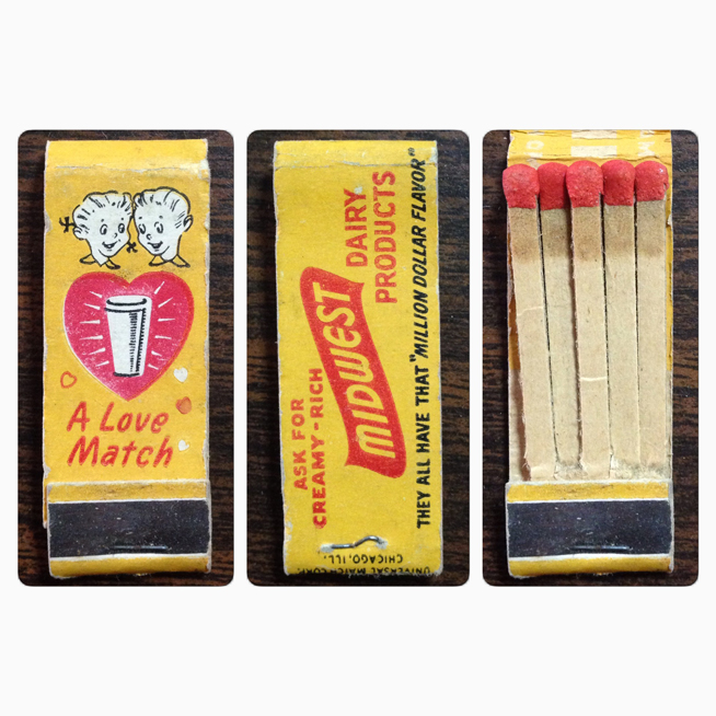 Midwest Dairy Matchbook Cover