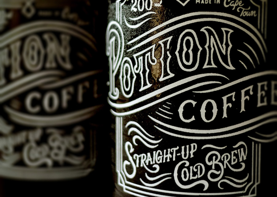 Potion Coffee Label by Jordan Metcalf