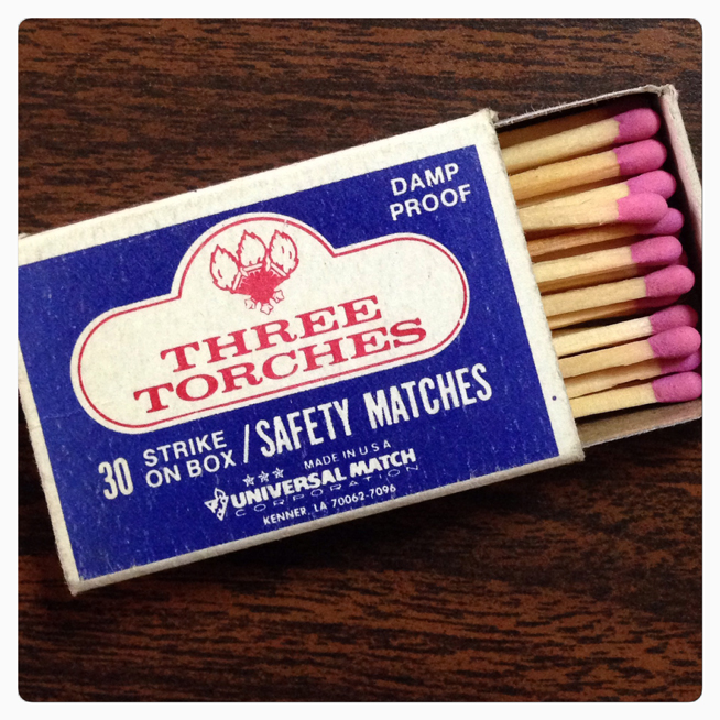 Three Torches Matchbook Cover