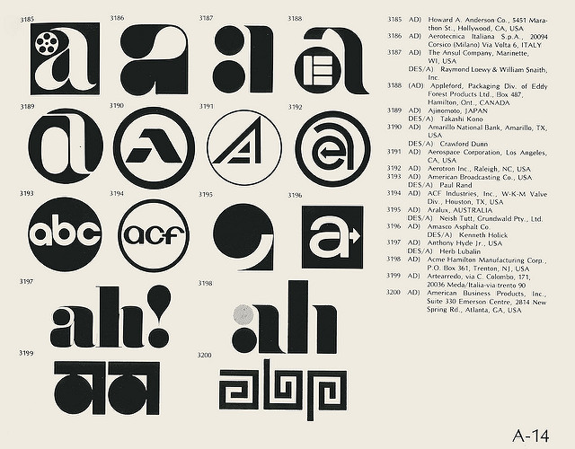 massive logo collection from the 1970s monkeys at keyboards