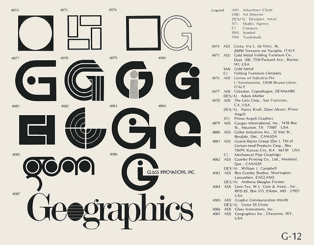 Page from a mid 79s copy of World of Logotypes