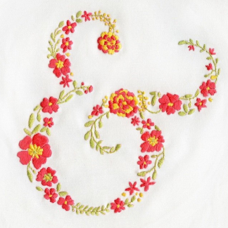 Embroidery ampersand by @lauralejandraca