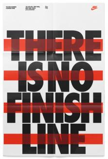 There is no finish line poster from Nike